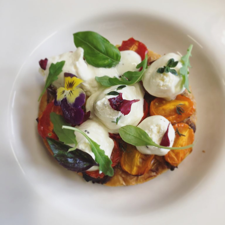 Photo of a dish tomato and goat cheese