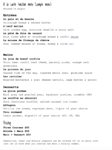 Function menu sample