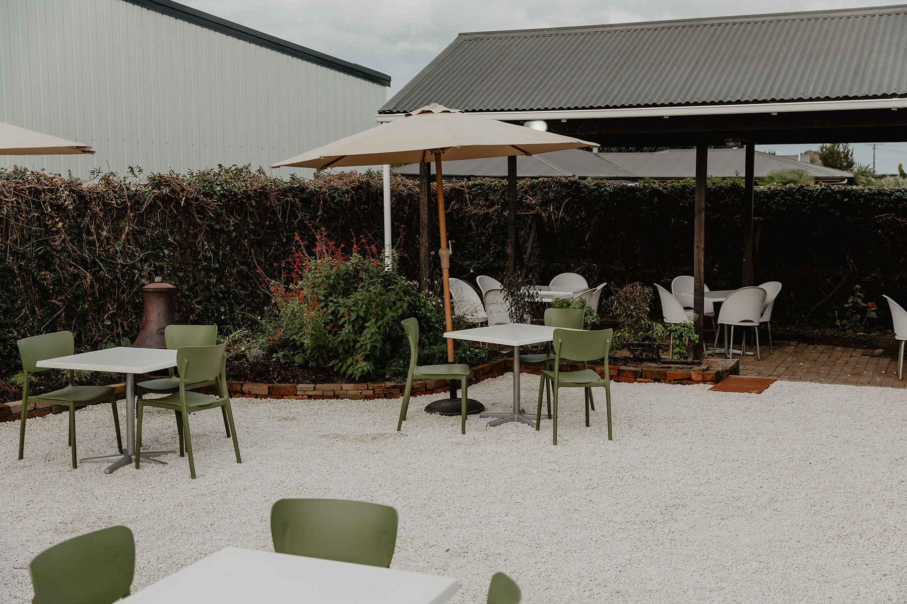The Trading Post courtyard
