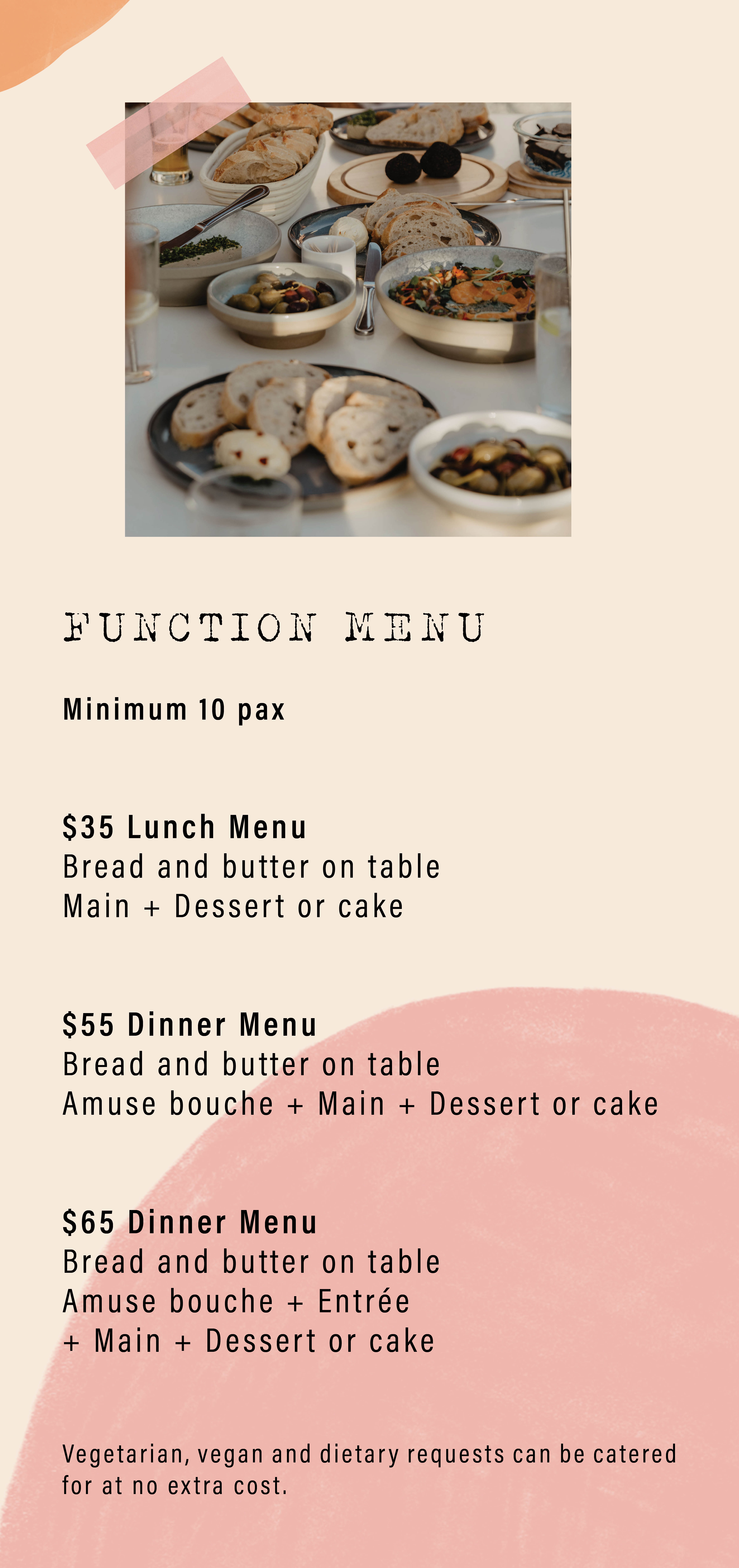 Function 2021 flyer The Trading Post French Bistro2